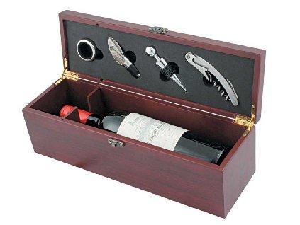 Darčeková sada na víno , brown/silver