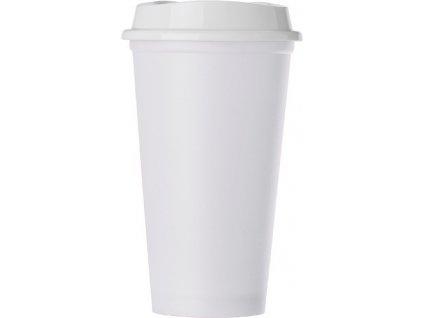 Pohár s vrchnákom z polypropylénu (520 ml) , white