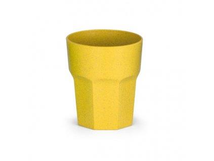 Pohár z ryžového vlákna a PP (400 ml) , Yellow