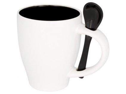 Hnček s lyžičkou (250 ml) , solid black