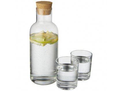 Karafa (1000ml) s 2 pohármi (200 ml) , Transparent clear