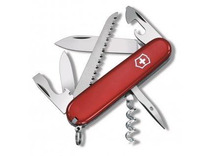 CAMPER , vreckový nôž (13 funkcií) , Red