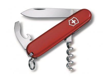 WAITER , vreckový nôž (9 funkcií) , Red