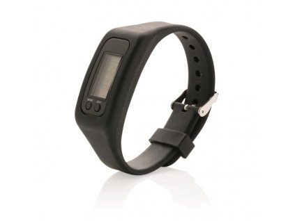 Športové hodinky s krokomerom , Black