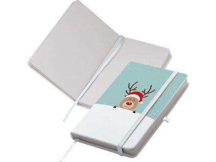 Zápisník A6 , white