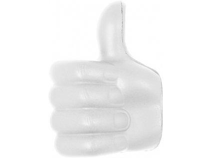 Antistresová pomôcka - palec hore , white
