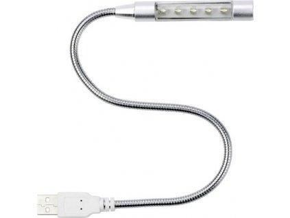 USB svietidlo pre notebook, 5 LED , Silver