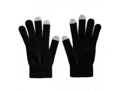 Hmatové rukavice vhodné na obsluhu chytrých telefónov , Black