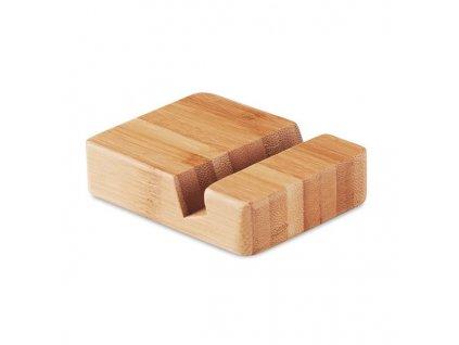 Bambusový stojan na mobil , wood