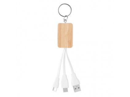 Bambusový kábel 3v1 , wood