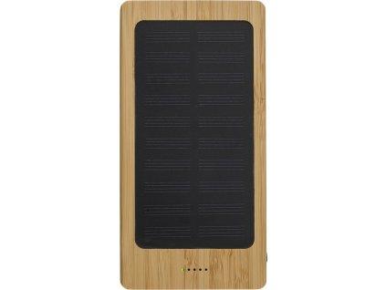 Bambusová solárna power banka, 8000 mAh , bamboo