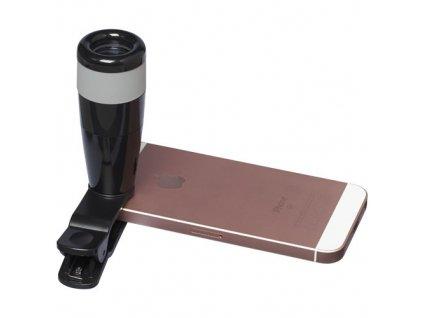 8 x zoomový objektív na mobil , solid black