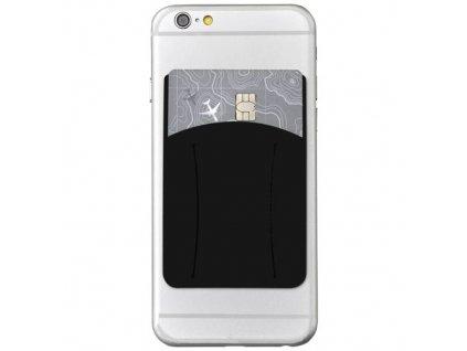Silikónové puzdro na kartu na mobil , solid black