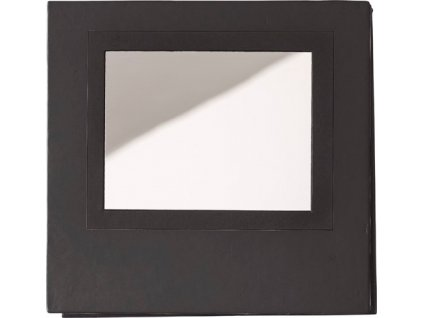 Box s poznámkovým blokom a zrkadlom. , Black