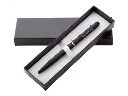 Dotykové guľôčkové pero, modrá náplň , Black