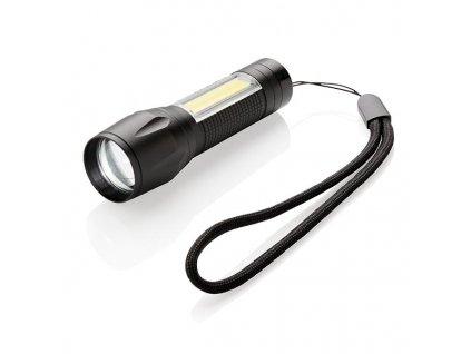 3W LED svietidlo s COB svetlom , Black