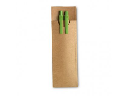 Guľôčkové pero (modrá náplň) a mechanická ceruzka , Lime