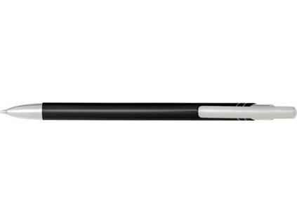 Hliníkové guľôčkové pero (modrá náplň) , Black