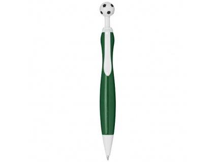 Guľôčkové pero, futbal (čierna náplň) , Green