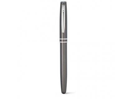 Guľôčkové pero (modrá náplň) a roller , gun metal