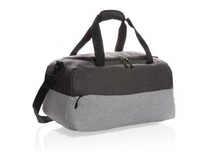 Duo color RFID víkendová taška z RPET , gray