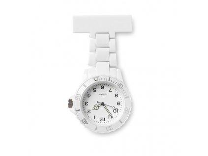 Analógové hodinky pre zdravotnýcky personál , white