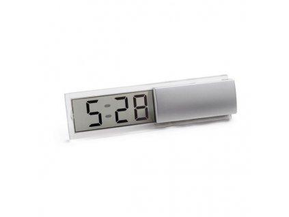 Digitálne stolové hodiny , Satin Silver
