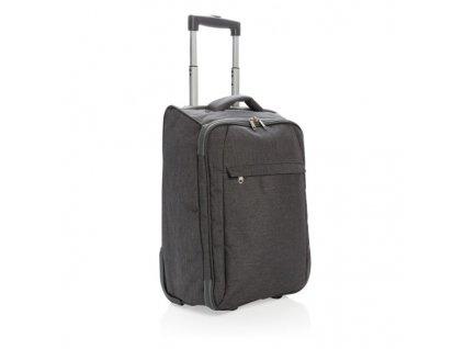 Dvojtónový skladný kufrík s kolieskami , anthracite