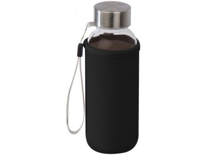 Sklenená flaša v neopréne (300 ml) , Black