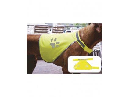 Bezpečnostná vesta pre psov , signal yellow, S