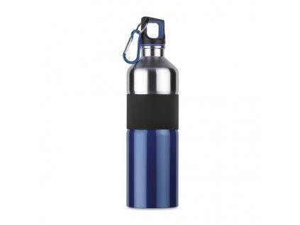 Dvojfarebná fľaša s karabínkou (750 ml) , Blue