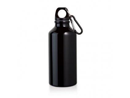 Športová fľaša, hliník (400 ml) , Black