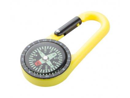 Plastová karabinka s kompasom , yellow/black