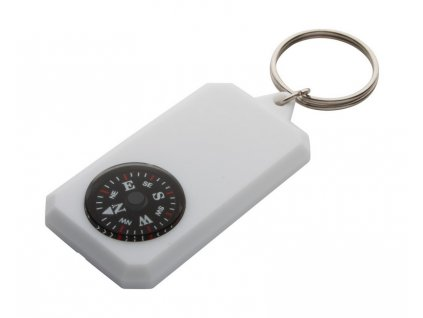 Prívesok na kľúče s kompasom , white
