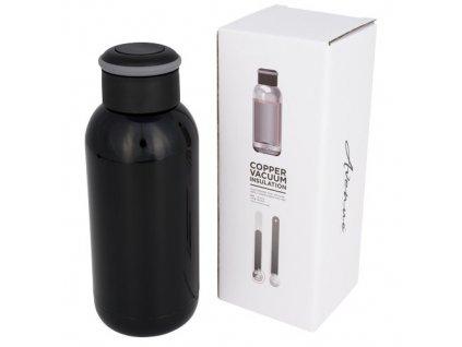 Mini termoska s medenou izoláciou (350 ml) , solid black
