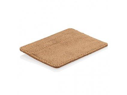 EKO RFID korkové puzdro na karty , Brown