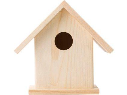 Drevená búdka pre vtáčiky s farbami a štetcom , Brown