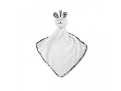 Detský uterák so zajačikom , white