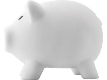 Plastová pokladnička prasiatko , white