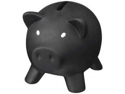 Pokladnička prasiatko , solid black