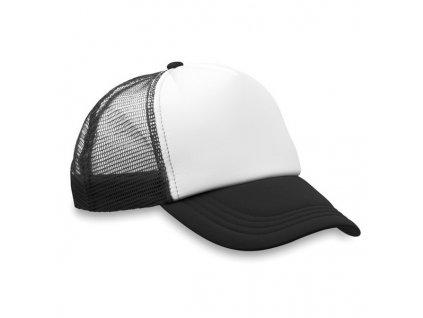 Baseballová čiapka so sieťkou, 5-panelová , Black