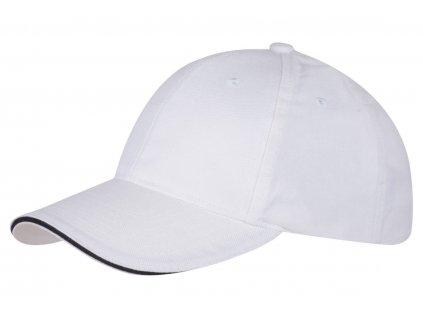 Baseballová čiapka CLASSIC SANDWICH , white