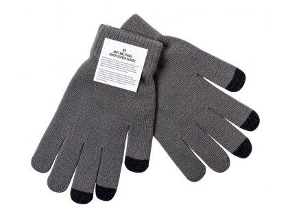 Antibakteriálne dotykové rukavice , heather grey