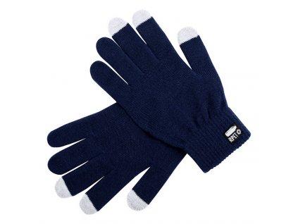 Dotykové rukavice , RPET polyester , dark blue