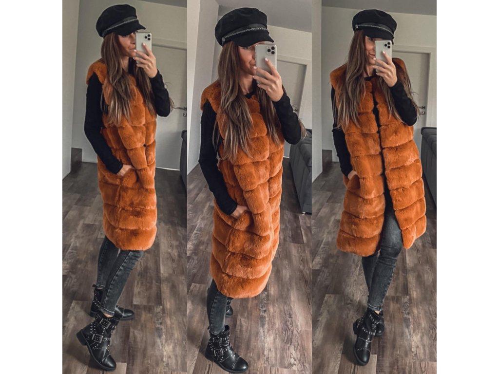 Dlouhá vesta Sei oranžová