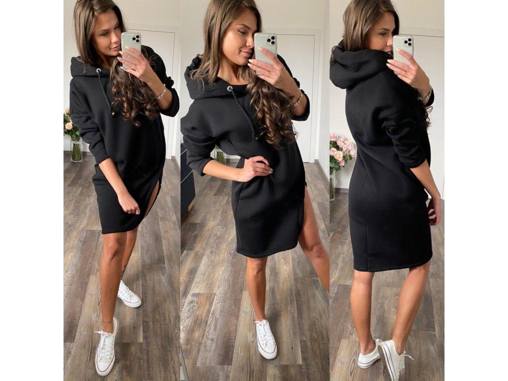Luxusní tepl. šaty černá