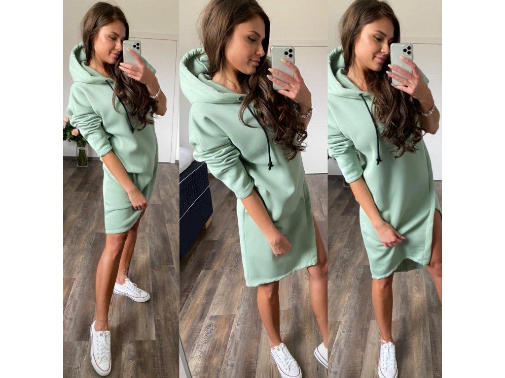 Luxusní tepl. šaty mint