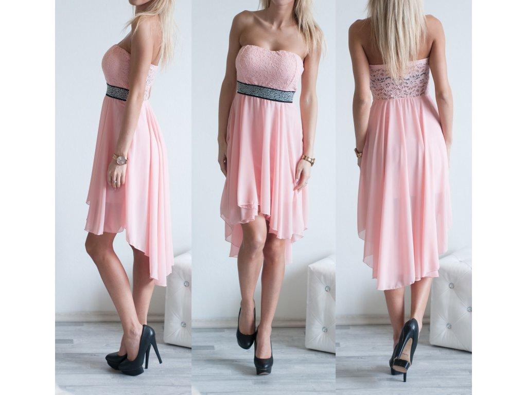 Elegantní šaty Tess ST137 světle růžová