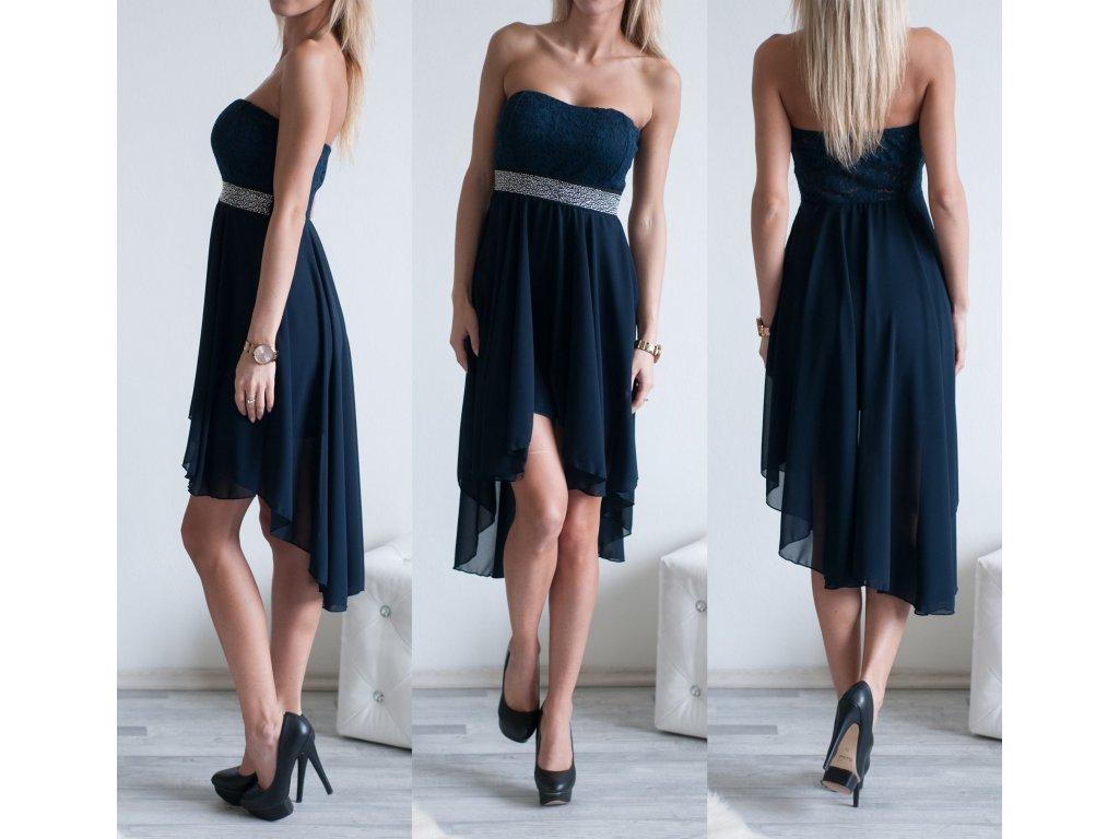 Elegantní šaty Tess ST137 tmavě modrá