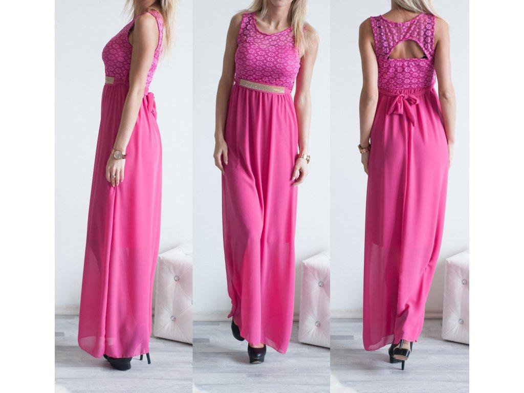 Plesové šatečky Steff ST313 růžová